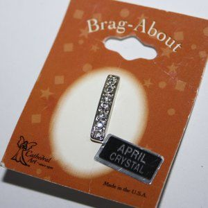 Brag abouts Silver Pendant NWT April